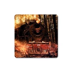 Locomotive Square Magnet
