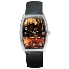 Locomotive Barrel Style Metal Watch