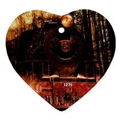 Locomotive Heart Ornament (two Sides)