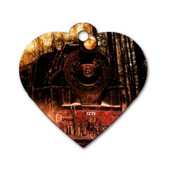 Locomotive Dog Tag Heart (Two Sides)