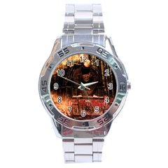 Locomotive Stainless Steel Analogue Watch