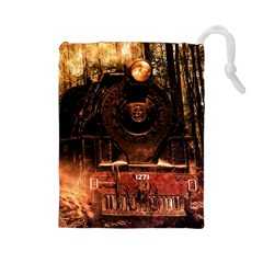 Locomotive Drawstring Pouches (large)