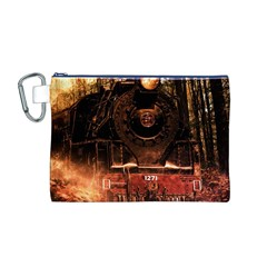 Locomotive Canvas Cosmetic Bag (m)