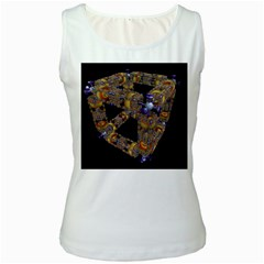 Machine Gear Mechanical Technology Women s White Tank Top