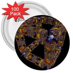 Machine Gear Mechanical Technology 3  Buttons (100 pack)