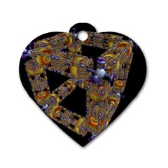 Machine Gear Mechanical Technology Dog Tag Heart (Two Sides)