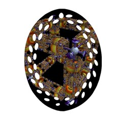 Machine Gear Mechanical Technology Oval Filigree Ornament (two Sides)