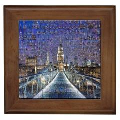 London Travel Framed Tiles