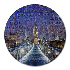 London Travel Round Mousepads