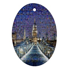 London Travel Ornament (Oval)