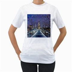 London Travel Women s T-Shirt (White) (Two Sided)