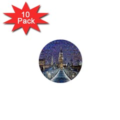 London Travel 1  Mini Buttons (10 pack)