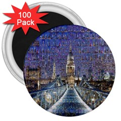 London Travel 3  Magnets (100 pack)