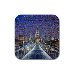 London Travel Rubber Square Coaster (4 pack)