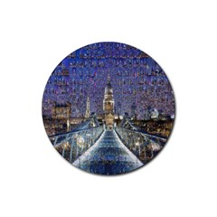 London Travel Rubber Round Coaster (4 Pack)