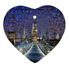 London Travel Heart Ornament (Two Sides)