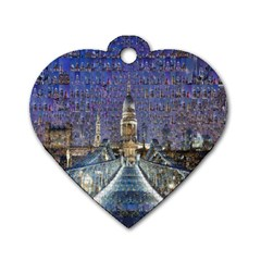 London Travel Dog Tag Heart (Two Sides)