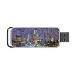 London Travel Portable Usb Flash (two Sides)