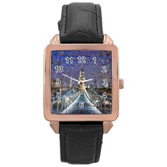 London Travel Rose Gold Leather Watch