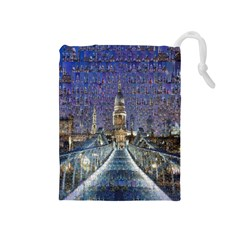 London Travel Drawstring Pouches (medium)