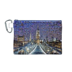 London Travel Canvas Cosmetic Bag (m)
