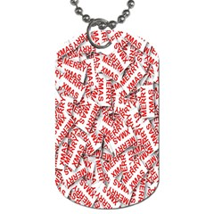 Merry Christmas Xmas Pattern Dog Tag (two Sides)