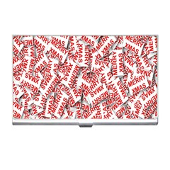 Merry Christmas Xmas Pattern Business Card Holders
