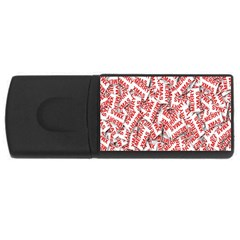 Merry Christmas Xmas Pattern USB Flash Drive Rectangular (2 GB)