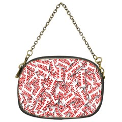 Merry Christmas Xmas Pattern Chain Purses (one Side)