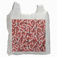 Merry Christmas Xmas Pattern Recycle Bag (One Side)