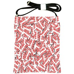 Merry Christmas Xmas Pattern Shoulder Sling Bags