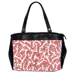 Merry Christmas Xmas Pattern Office Handbags (2 Sides)