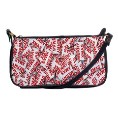 Merry Christmas Xmas Pattern Shoulder Clutch Bags