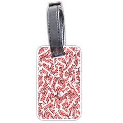 Merry Christmas Xmas Pattern Luggage Tags (One Side)