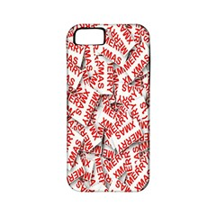 Merry Christmas Xmas Pattern Apple Iphone 5 Classic Hardshell Case (pc+silicone)