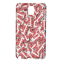 Merry Christmas Xmas Pattern Samsung Galaxy Note 3 N9005 Hardshell Case
