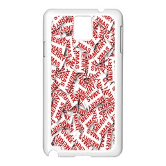 Merry Christmas Xmas Pattern Samsung Galaxy Note 3 N9005 Case (White)