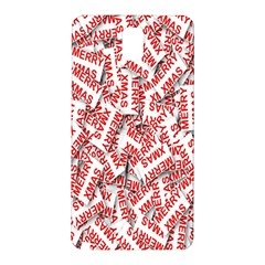 Merry Christmas Xmas Pattern Samsung Galaxy Note 3 N9005 Hardshell Back Case