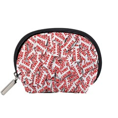 Merry Christmas Xmas Pattern Accessory Pouches (small)