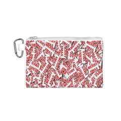 Merry Christmas Xmas Pattern Canvas Cosmetic Bag (s)