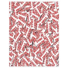 Merry Christmas Xmas Pattern Drawstring Bag (Large)
