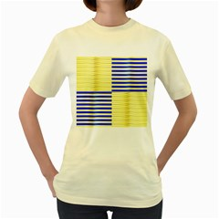 Metallic Gold Texture Women s Yellow T-Shirt