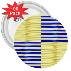 Metallic Gold Texture 3  Buttons (100 pack)