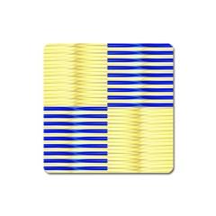 Metallic Gold Texture Square Magnet