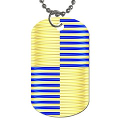 Metallic Gold Texture Dog Tag (Two Sides)