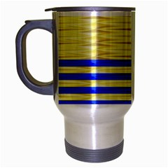 Metallic Gold Texture Travel Mug (Silver Gray)