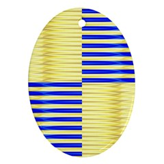 Metallic Gold Texture Oval Ornament (two Sides)