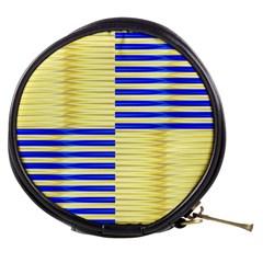 Metallic Gold Texture Mini Makeup Bags