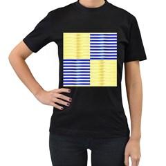 Metallic Gold Texture Women s T Shirt (black)