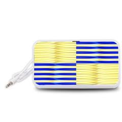 Metallic Gold Texture Portable Speaker (white)